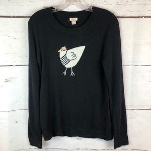 J. Crew | Sweater with Bird Print, Size S
